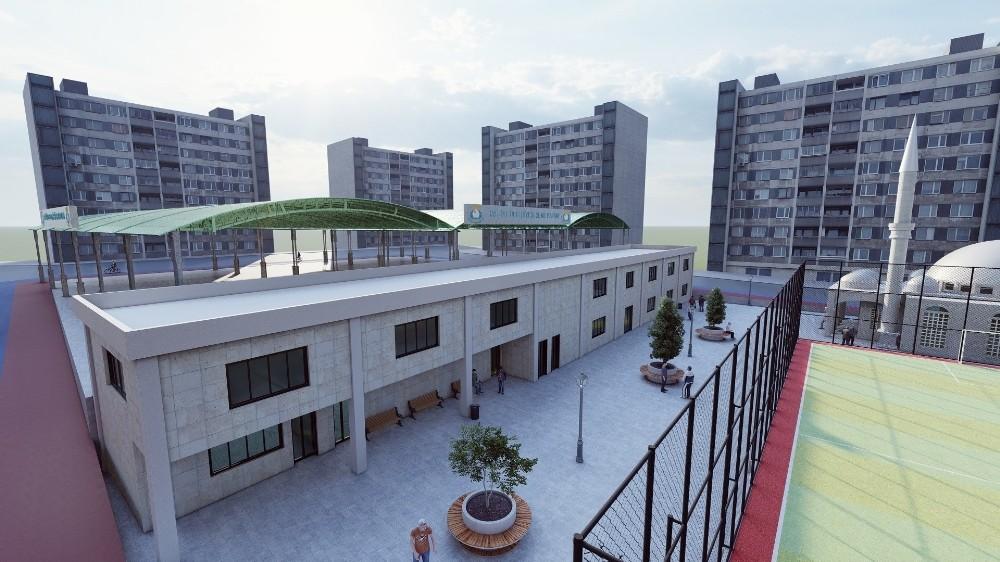 Karşıyaka'ya semt pazarı ve kompleksi yapılıyor