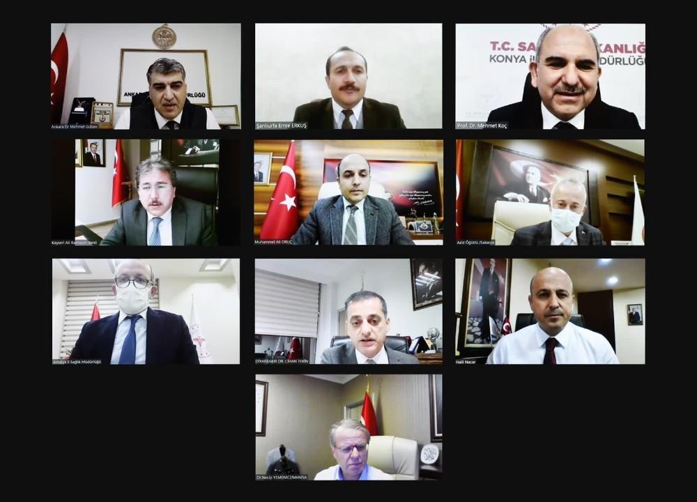 Bakan Koca Şanlıurfa sağlık il müdürü ile görüştü