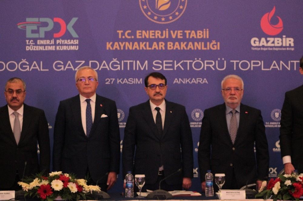 """Bakan Dönmez: """"30-35 günlük doğal gaz talebini karşılayabilecek kapasitedeyiz″"""
