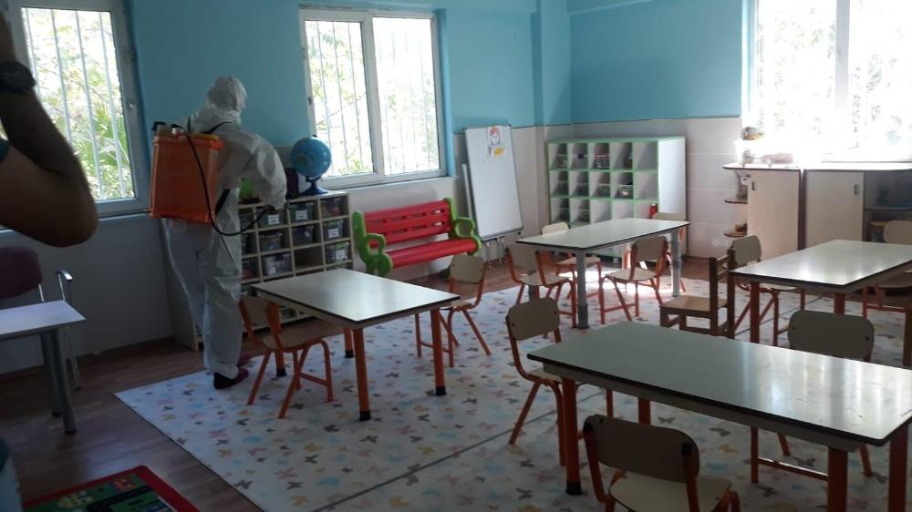 Akçakale'de okullarda hijyen çalışmaları