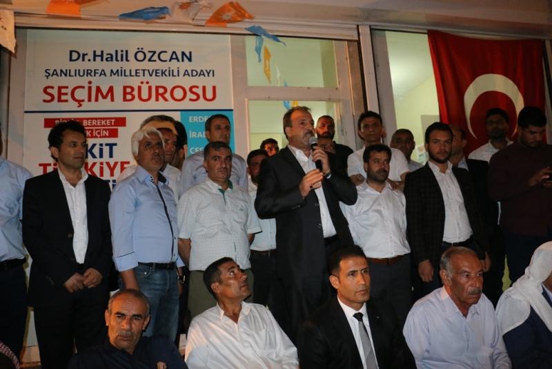 Ak Aday Özcan Akçakale'de Seçim Bürosu Açtı