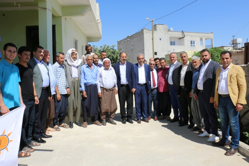 AK Parti Şanlıurfa Milletvekili Dr. Halil Özcan Haliliye kırsalında