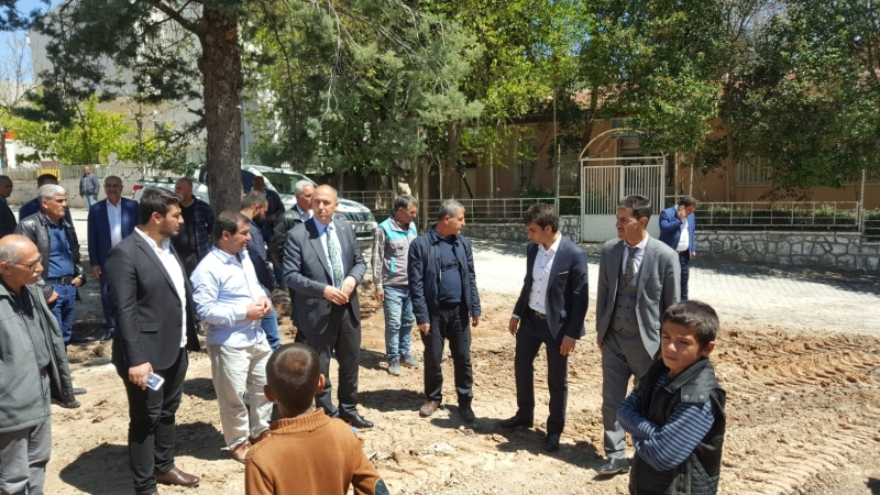 Başkan Aksoy Otopark Alanında İncelemelerde Bulundu