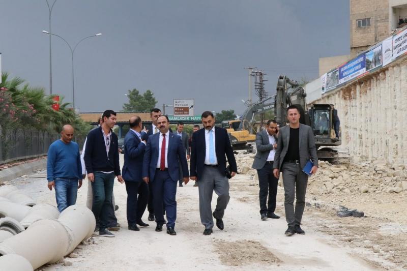 Başkan Çiftçi Karakoyun Köprülü Kavşağı Çalışmalarını İnceledi
