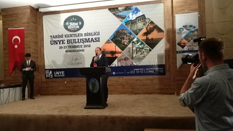 Başkan Çiftçi Tarihi Kentler Birliği Ünye Buluşmalarını Başlattı