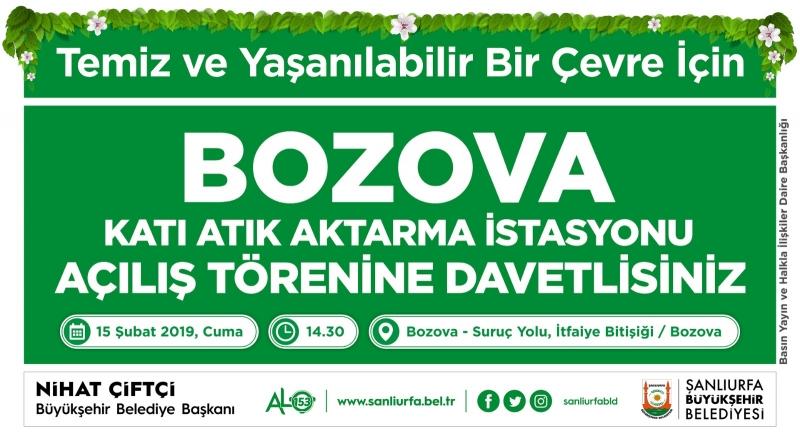 Bozova Katı Atık Aktarma İstasyonu Hizmete Sunuluyor
