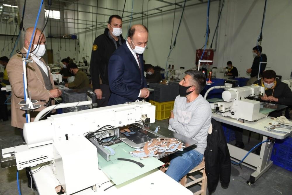 Vali Erin, OSB'deki fabrikaları ziyaret etti