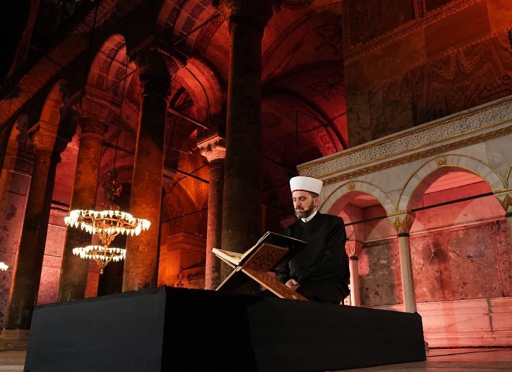İstanbul'un fethinin 567. yılı Cumhurbaşkanı Erdoğan'ın katılımıyla Ayasofya'da kutlandı