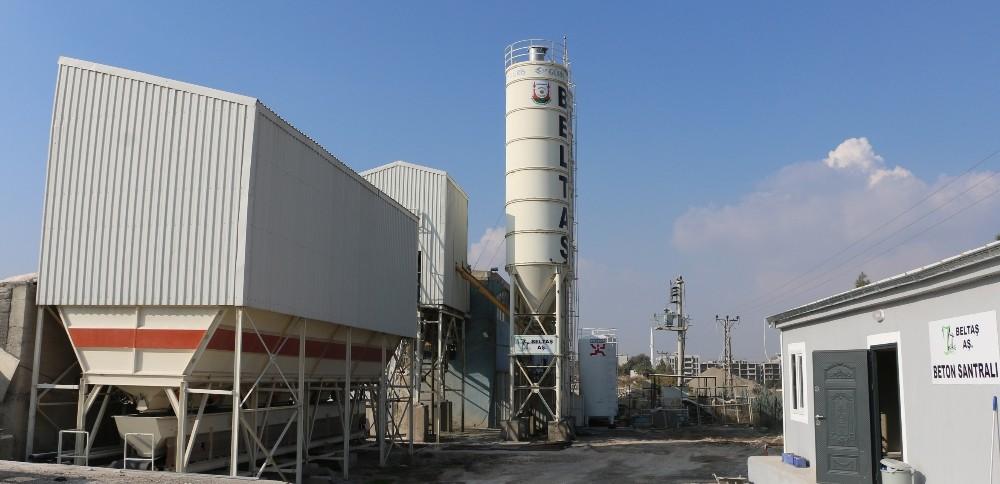 Beton santrali üretime başladı