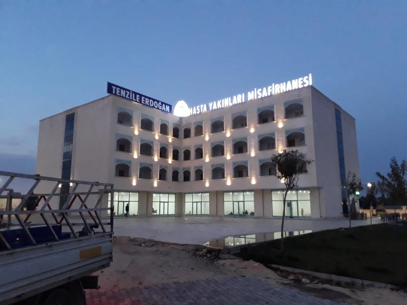 Eyyübiye Belediyesi Hasta Yakınları Misafirhanesine Tenzile Erdoğan İsmini Verdi