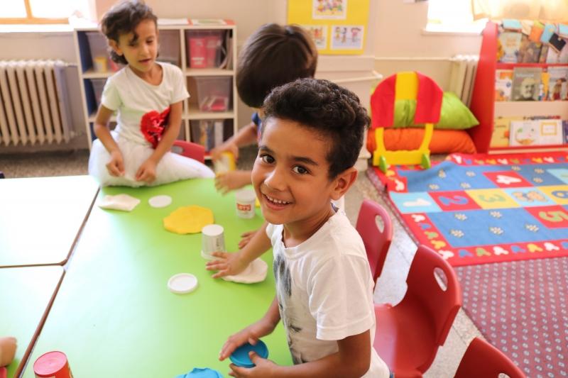 Eyyübiye de Suriyeli çocuklar için anasınıfı açıldı