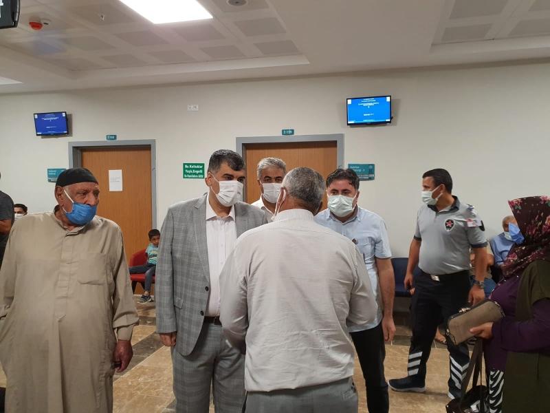 GÜLÜM Ceylanpınar Devlet Hastanesinde incelemelerde bulundu.
