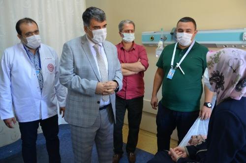 GÜLÜM, Mehmet Akif İNAN Eğitim ve Araştırma Hastanesinde incelemelerde bulundu.