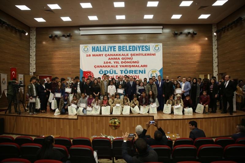 Haliliye Belediyesi Çanakkale Yarışmalarında Ödüller Sahiplerini Buldu