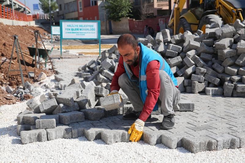 Haliliye Belediyesinden imam Bakır ve Sırrın'da Parke Çalışması