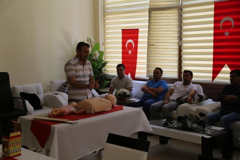 Haliliye Belediyesin den Personele Sağlık Taraması Ve İlk Yardım Eğitimi