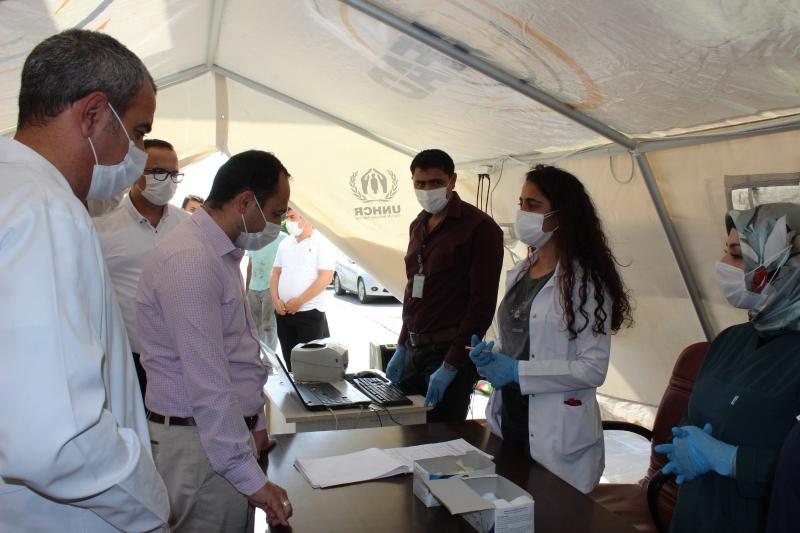 İl Sağlık Müdürü Viranşehir'de incelemelerde Bulundu.