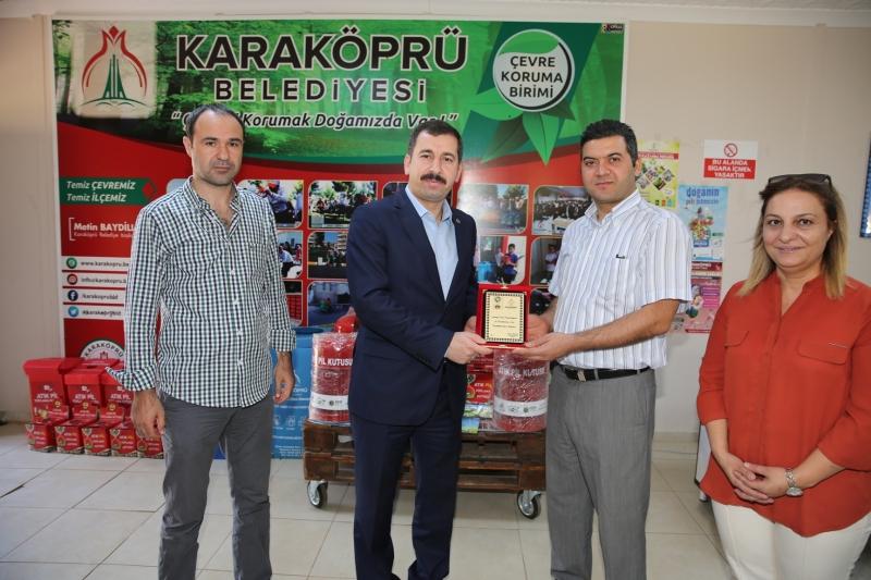 Karaköprü Belediyesine 2 Milyon Liralık Geri Dönüşüm Hibesi