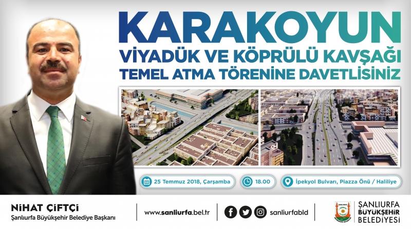 Karakoyun Köprülü Kavşağının Temeli Atılıyor