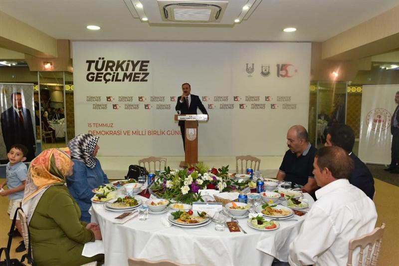 Şanlıurfa'da 15 Temmuz şehit ve gazileri onuruna yemek programı düzenlendi
