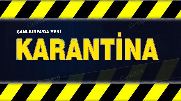 Şanlıurfa'da 92 ev karantinaya alındı
