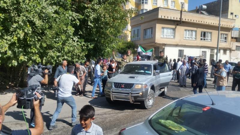 Suriye ordusu ugurlandı.