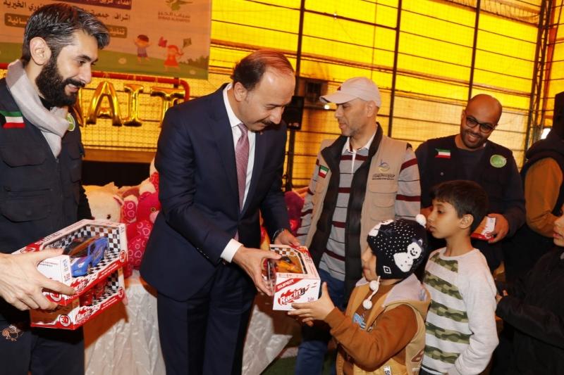 Suriyeli 300 Yetim Çocuk Oyuncaklarla Sevindi