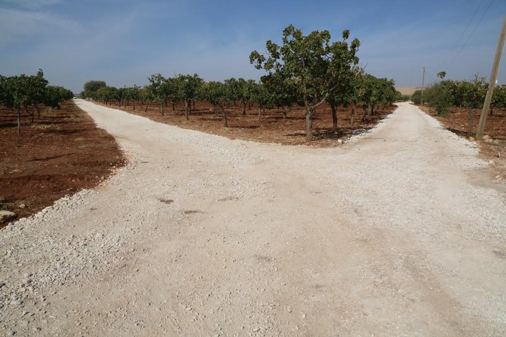 Haliliye kırsalında yol yapım atağı