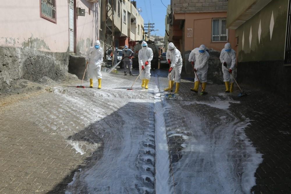 Eyyübiye'de salgına karşı çalışmalar devam ediyor