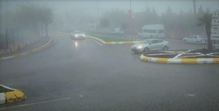 Şanlıurfa'da yoğun sis etkisini sürdürüyor.