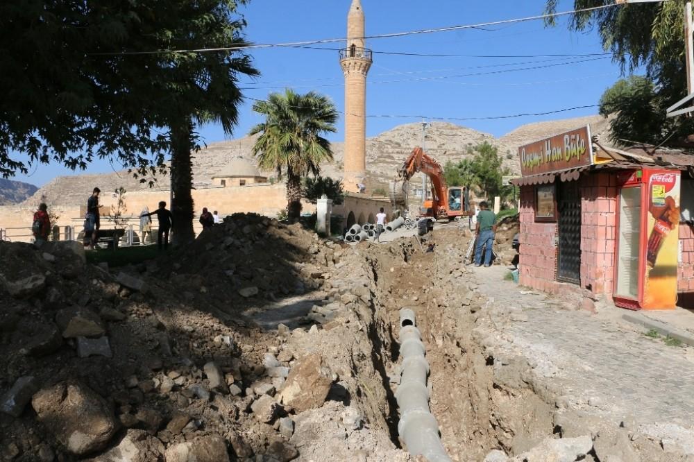 ŞUSKİ Halfeti'de alt yapı çalışmalarına devam ediyor