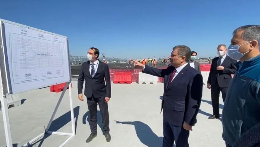 Bakan Koca: ″Yeşilköy'de inşa ettiğimiz çok amaçlı hastane güçlü bir sağlık alt yapısı oluşturacak″