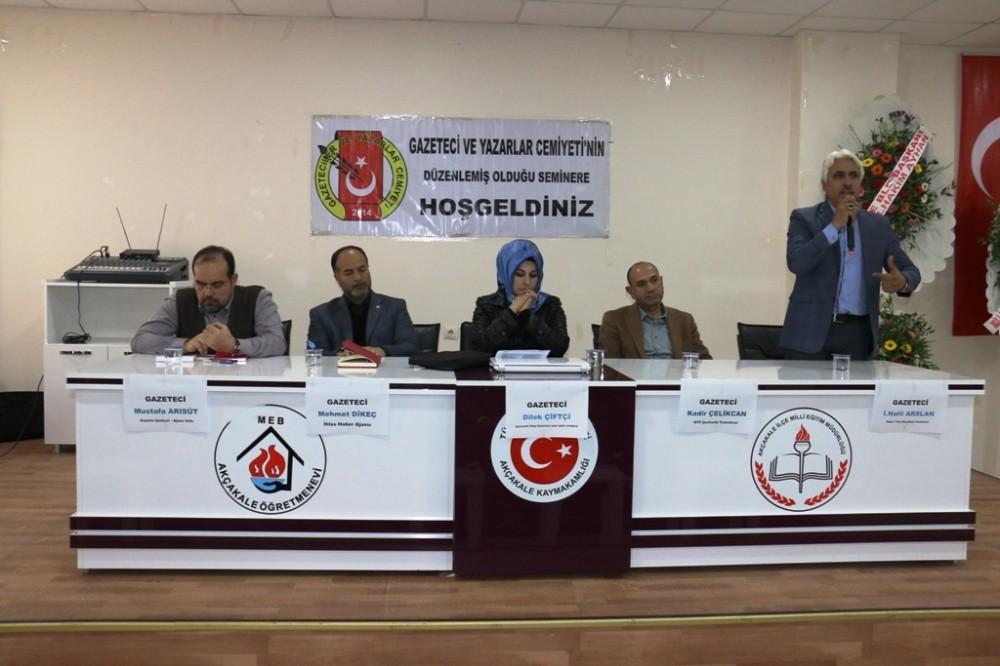 Ulusal ve yerel basın mensupları Akçakale'de buluştu