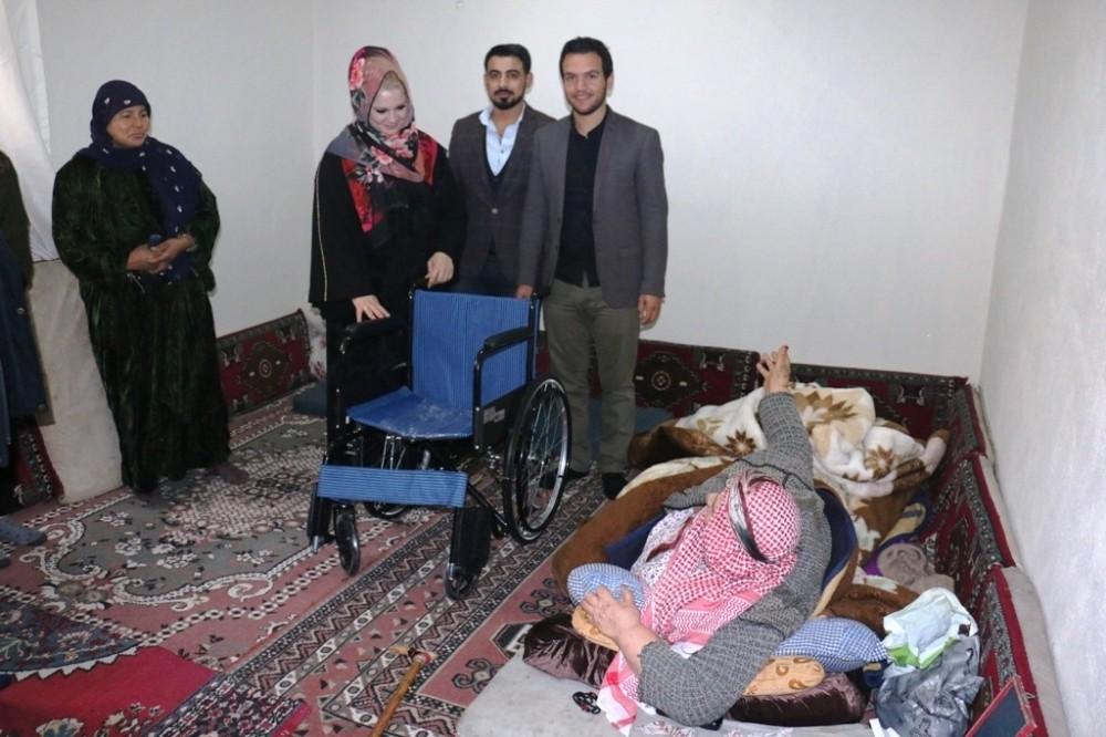 Akçakale'de engelliler ve çocukların yüzü güldü