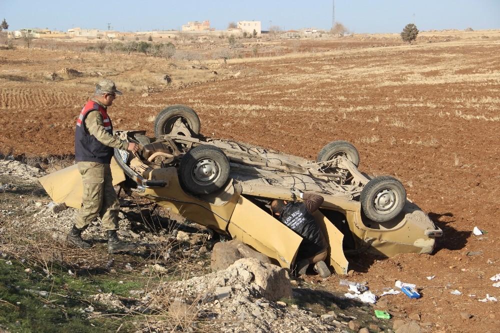 Şanlıurfa'da otomobil takla attı: 1'i ağır 5 yaralı