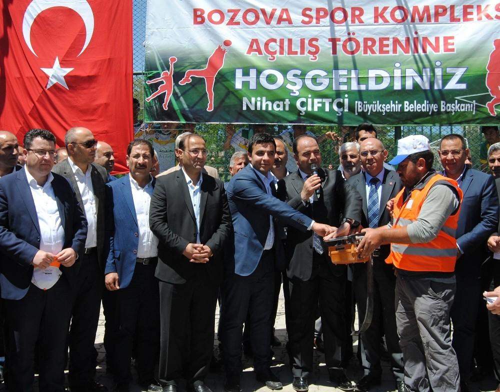 Bozova kent parkının temeli atıldı