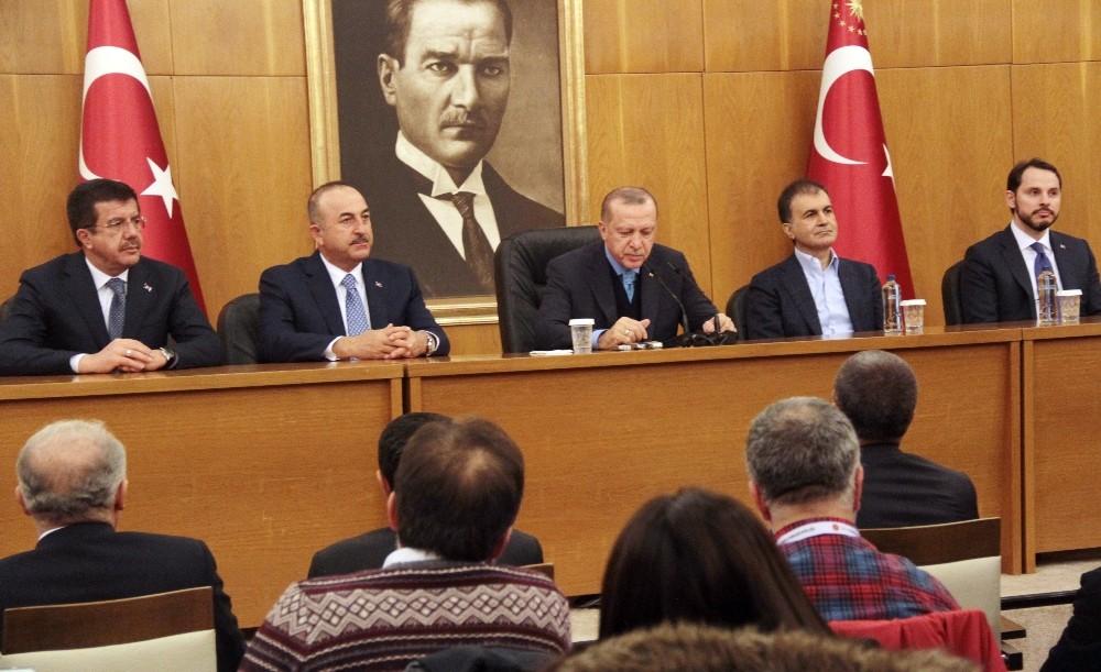 """Cumhurbaşkanı Erdoğan: """"İnandığımız yolda şu anda kararlılıklar devam ediyoruz"""""""