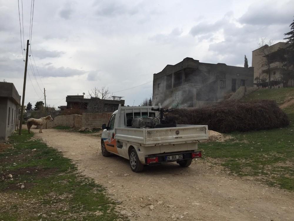 Haliliye kırsalı mahalle mahalle dezenfekte ediliyor
