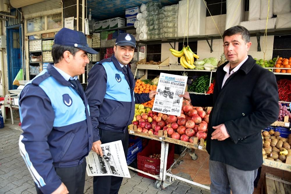 Belediye Haber Gazetesi 2. sayısıyla vatandaşlarla buluştu