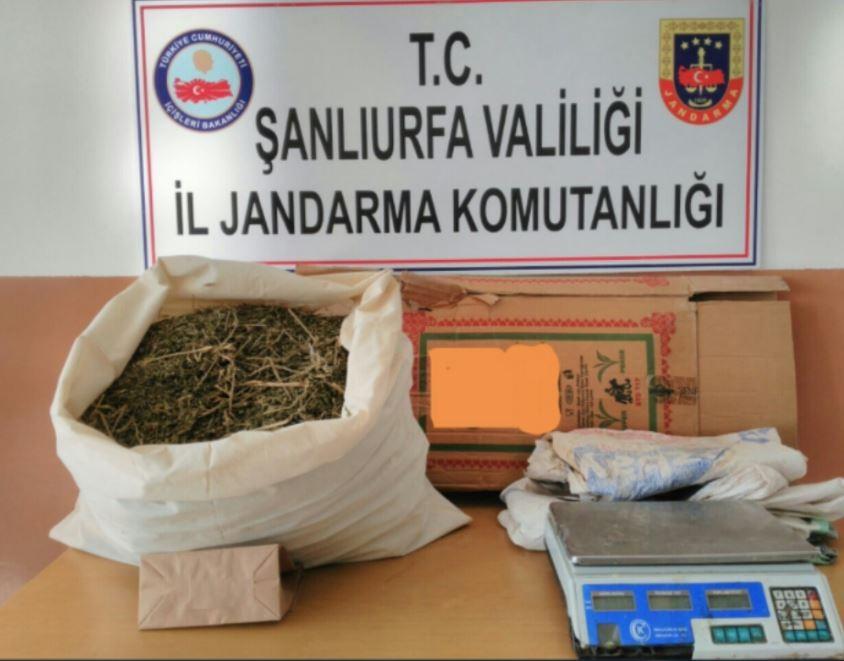 Şanlıurfa'da 6 kilo esrar ele geçirildi