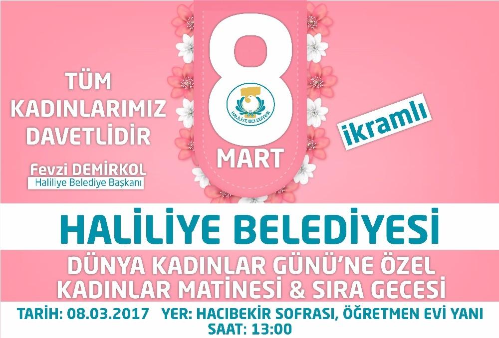 Haliliye Belediyesi kadınlar gününe özel etkinlik düzenliyor
