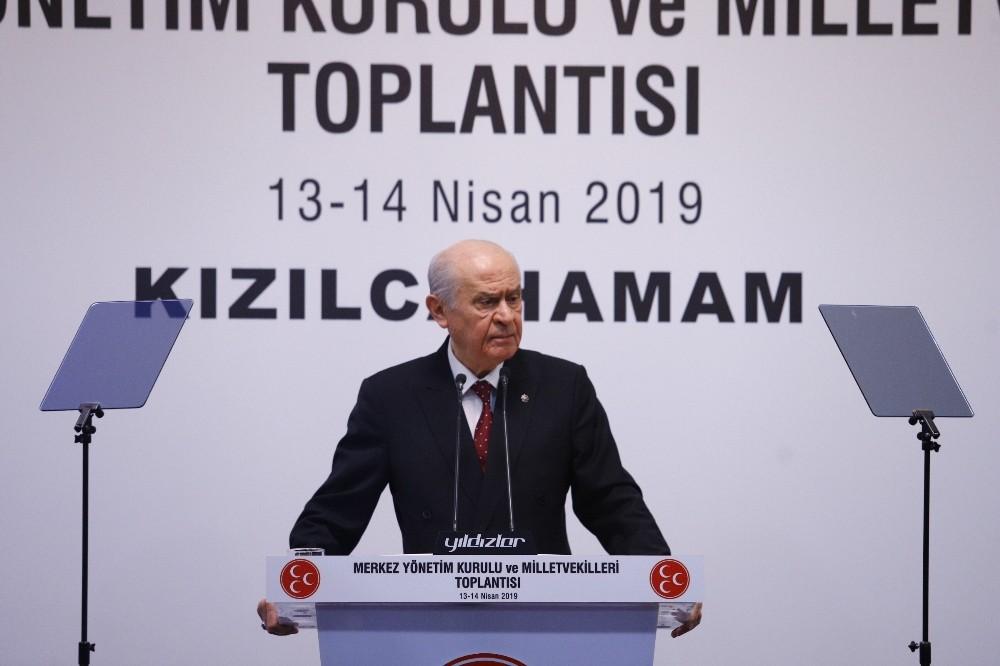 """MHP Genel Başkanı Bahçeli: ″İstanbul'daki seçimlere şaibe karıştığını akıl ve vicdan sağlığı yerinde olan hiç kimse inkar edemeyecektir"""""""