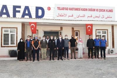 AFAD Başkanı Sezer Telabyad'da İncelemelerde Bulundu