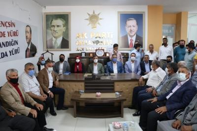 AK Parti Şanlıurfa İl Başkanı Abdurrahman Kırıkçı ve Yönetim Kurulu Üyeleri İlçe ziyaretleri kapsamında Ceylanpınar İlçesini ziyaret etti.