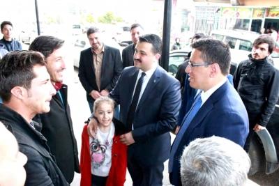 AK Parti Şanlıurfa İl başkanı Bahattin Yıldız Halfeti'de