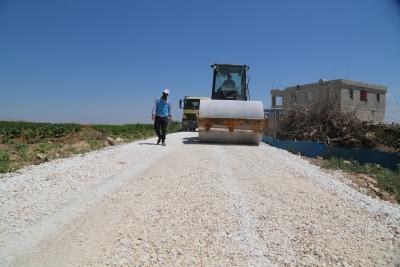 Aşağı Koymat Mahallesine stabilize yol çalışmaları