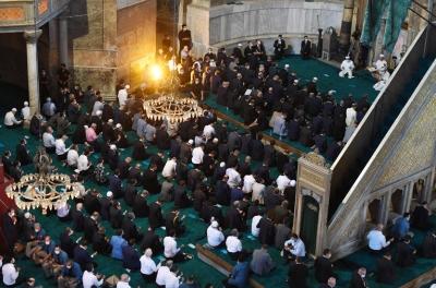Ayasofya-i Kebir Cami-i Şerifi 86 yıl sonra ibadete açıldı