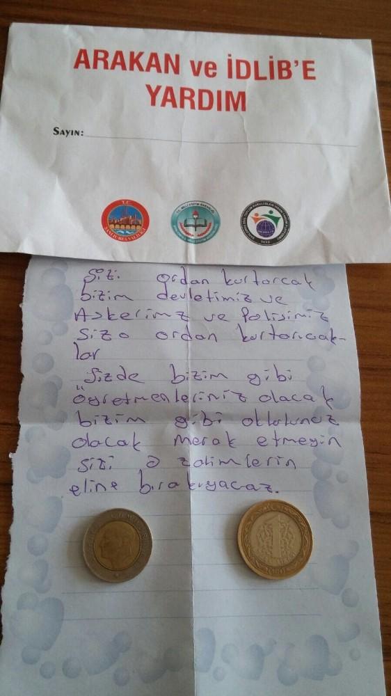 Öğrencinin ″Askerimiz, polisimiz sizi kurtaracak″ notu duygulandırdı