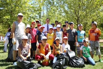 Başkan Baydilli Eldivenleri Giydi Çöp Topladı