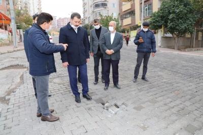 BAŞKAN BAYDİLLİ KARAKÖPRÜ'YÜ ADIM ADIM GEZİYOR